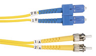 Black Box 5m (16.4ft) STSC YL OS2 SM Fiber Patch Cable INDR Zip OFNR FOSM-005M-STSC