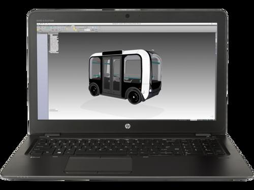 HP ZBook 15u G4 W10P-64 i7 7600U 2.8GHz 512GB NVME 16GB(2x8GB) 15.6FHD WLAN BT FPR No-NFC Cam Notebook PC