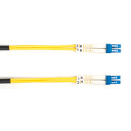 Black Box 20m (65.6ft) LCLC YL OS2 SM Fiber Patch Cable INDR Zip OFNR FOSM-020M-LCLC