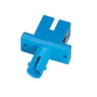 Black Box Fiber Optic Adapter, ST-SC, Multimode, Simplex, Rectangular Mounting FOT115