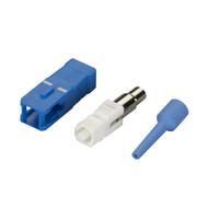 Black Box Fiber Optic Connector, Ceramic Ferrule, SC Single-Mode Simplex, 126-um FOT206