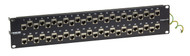 Black Box 48-Port 2U CAT6A Staggered Feed-Through Patch Panel Shielded C6AFP70S-48