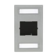 Black Box Plastic Coupler Faceplate, Single-Gang, 1-Slot, Gray FT192GR