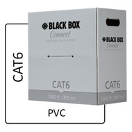 Black Box Black Box Connect CAT6 250 MHz Solid Bulk Cable - UTP, PVC, White, 100 C6-CM-SLD-WH
