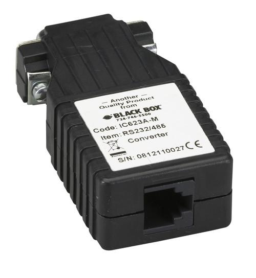 Black Box Async RS-232 to RS-485 Interface Converter, DB9 Male to RJ-11 IC623A-M