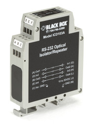 Black Box DIN Rail Repeater with Opto-Isolation, RS-232 ICD103A
