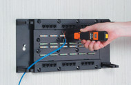 Black Box CAT5e Wallmount Patch Panel with Cover, 24-Port JPM085A-R3