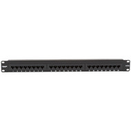 Black Box CAT5e Econo Patch Panel, 24-Port, 1U, Universal Wiring JPM111A-R5