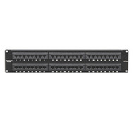 Black Box CAT5e Econo Patch Panel, 48-Port, 2U, Universal Wiring JPM113A-R5