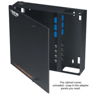 Black Box Fiber Wall Cabinet, Open-Style, Unloaded, Accepts 4 Adapter Panels JPM401A-R2