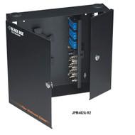 Black Box Fiber Wall Cabinet, Unloaded, Lock-Style 24-Port (Accepts 4 Adapter Pa JPM402A-R2