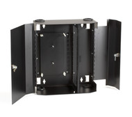 Black Box Fiber Wall Cabinet, Lock-Style, 12-Adapter Panel JPM403A-R2