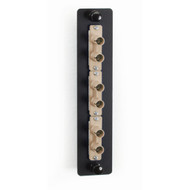 Black Box Standard Adapter Panel, Bronze Sleeves, (3) Duplex ST Pairs, Beige JPM450B
