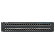 Black Box CAT5e Feed-Through Patch Panel, Shielded, 48-Port JPM806A-R2