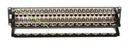 Black Box CAT6 Patch Panel, Feed-Through, 2U, Shielded, 48-Port JPM816A