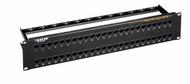 Black Box 48-Port CAT6 Feed-Through Patch Panel, 2U, Unshielded JPM820A