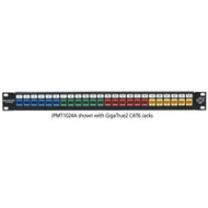 Black Box Multimedia Patch Panel 24-Port 1U JPMT1024A