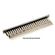 Black Box CAT6 Shielded Patch Panel, 24-Port, 1U JPS60A-24