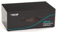 Black Box 4-Port Desktop KVM Switch, Dual Head/Link DVI-D, USB 2.0 True Emul KV2204A