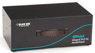 Black Box 4-Port Desktop KVM Switch, Quad Head Dual Link DVI-D, USB 2.0 True KV2404A