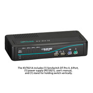 Black Box 4-Port Desktop KVM Switch, VGA, USB or PS/2, Audio, w/Cables KV7021A-K