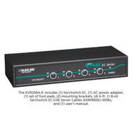 Black Box KVM Switch, 4 Port, PS/2 or USB Servers & USB Consoles KV9204A-K