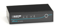 Black Box 2-Port Desktop KVM Switch, DVI-D with Emulated USB Keyboard/Mouse KV9612A