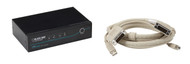 Black Box ServSwitch DT DVI 2-Port with Emulated USB Keyboard/Mouse Kit KV9612A-K