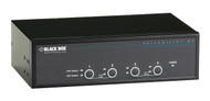 Black Box 4-Port Desktop KVM Switch, Dual-Head DVI-D, USB KV9624A