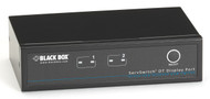 Black Box Desktop KVM Switch, 2 Port, DisplayPort,USB, Bi-Dir USB Audio KV9702A