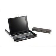 "Black Box ServTray Complete, 17"", 16-Port KVM Switch Module, USB and PS/2 KVT417A-16UV-R2"