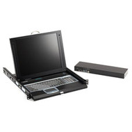 "Black Box ServTray Complete, 17"", Single-Port KVM Module, DVI, VGA, PS/2 or USB KVT417A-1UV-R3"