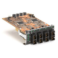 Black Box 4-Port Fiber Module for Modular Fiber Switches, Multimode SC, 100-Mbps LE1419C