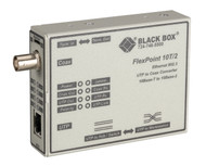 Black Box FlexPoint 10BASE-T to BNC Media Converter, 10-Mbps UTP to ThinNet LMC210A