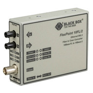 Black Box FlexPoint 10BASE-FL to BNC Media Converter, 10-Mbps Fiber to ThinNet, LMC211A-13MM