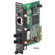 Black Box T1/E1/J1 to DUP Fiber MOD TwistedPair (RJ48) to MM 1300nm 2km ST LME001A