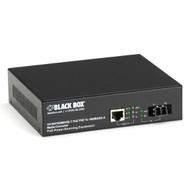 Black Box Media Converter Gigabit Ethernet PoE Single Mode 1310nm 10km LC LPS500A-SM-10K-LC