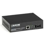Black Box PoE PSE Gigabit Media Converter, Single-Mode LC, 10 km LPS500A-SM-10K-LC