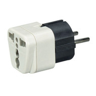 Black Box Power Plug Adapter, US to EU, ME, Africa, Asia, & SA MC167A