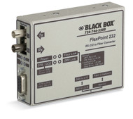 Black Box FlexPoint RS-232 to Fiber Converter, 850-nm Multimode, 2.5 km, ST ME660A-MST
