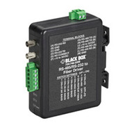 Black Box Industrial DIN Rail RS-232/RS-422/RS-485 to Fiber Driver MED101A
