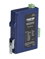 Black Box Industrial DIN Rail RS-232/RS-422/RS-485 Fiber Driver, Single-Mode MED102A