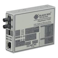 Black Box FlexPoint T1/E1 to Fiber Line Driver, Single-Mode, 28 km, ST MT661A-SM