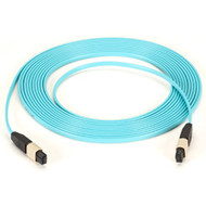 Black Box 10-GbE, OM3, MPO Fiber Optic Cable, 50-Micron, 12-Strand, Aqua, 20-m MTP-MTP-020M-10G