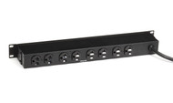 Black Box Metered Rackmount PDU with Front and Rear Outlets, 20-Amp PDUMH14-S20-120V