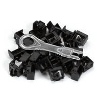 Black Box LockPORT Secure Port Lock Black 25-Pack PL-AB-BK-25PAK