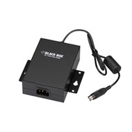 Black Box External 100-240-VAC Power Adapter, 12-VDC Output Jack, U.S. Cord PS002A