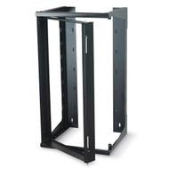 Black Box 25U Wallmount Rack, 12-24 , TAPPED RAILS Holes, 75lbs RM080A-R3