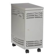 Black Box CPU Mobile Security Cabinet - Light Gray RM195A-R2