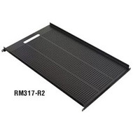 "Black Box Vented Equipment Shelf for Comm Cabinets, 17.72""W x 30.5""D RM317-R2"